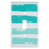 Turquoise Brush Stroke Single Switch Plate